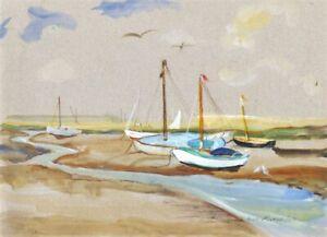 Jean-Dryden-Alexander-1911-1994-1989-Gouache-An-Ebbing-Tide