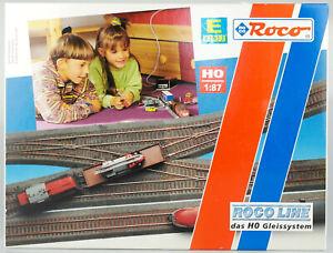 ROCO-LINE-Piste-h0-42013-concurrencant-Set-Voie-Set-E-8-voies-neuf-dans-sa-boite-LIRE