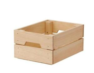 IKEA KNAGGLIG Wooden Pine Storage Box Crate Ideal for Bottle Can 23x31cm pup10