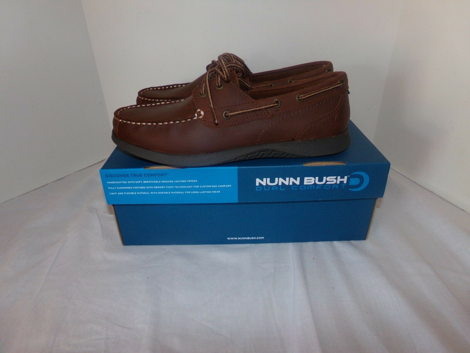 NIB Nunn Bush Dual Comfort Bayside Boat Shoes