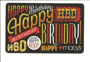 Image Is Loading Macy 039 S Happy Birthday Gift Card No