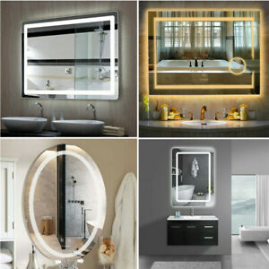 Luvodi Led Bathroom Wall Mount Mirror Illuminated Lighted Vanity Mirror Hardwire Ebay