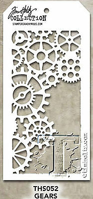 Gears Stencil Stampers Anonymous Tim Holtz