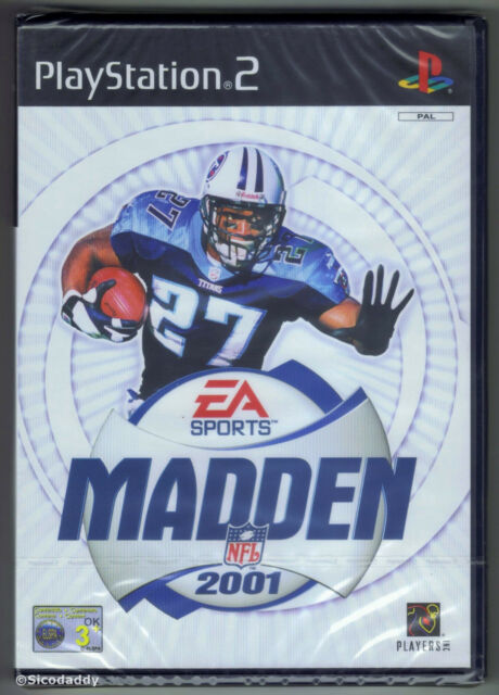PS2 Madden NFL 2001, (2000) UK Pal, Brand New & Sony Factory Sealed