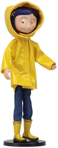 Coraline snodato bambola in Rain Coat
