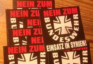 Details Zu 50 Nein Zum Bundeswehr Einsatz In Syrien Aufkleber Frieden Peace Anti Merkel Rus