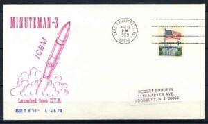 Stati-Uniti-1967-Mi-638-Busta-100-Minuteman-3