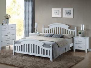 Landhaus Bett Doppelbett Ehebett Shabby Chic 3 Größen