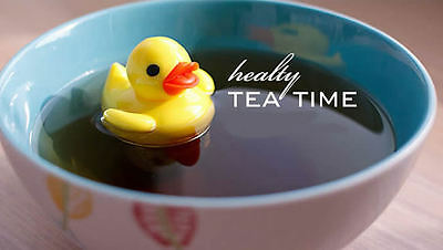 Floating T-Duck Loose Ceylon Tea Leaf Infuser Strainer Herbal Make Favorite Brew