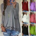 Zanzea S-5XL Women Long Sleeve Shirt Casual Blouse Loose Cotton Tops Tee Shirt