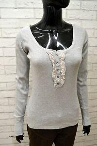 Maglia-Donna-GURU-Taglia-S-Maglietta-Blusa-Shirt-Woman-Manica-Lunga-Cotone
