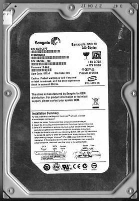 WU FW 3.AAE 5QF ST3320620A Seagate 320GB IDE 3.5 Hard Drive PN 9BJ04G-305
