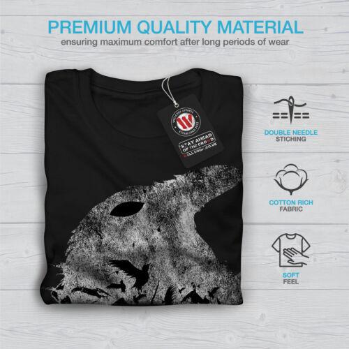 Wellcoda CORVO Bird Animale Selvatico Da Uomo Manica Lunga T-shirt Bird Graphic Design