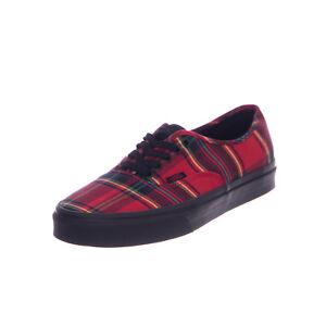 1b81e97d10 Image is loading Vans-Sneakers-Ua-Original-Plaid-Mix-Red-Black-