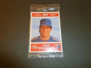 DAVE-MAGADAN-amp-KELLY-GRUBER-BASEBALL-2-CARD-POST-WRAP-1991-STAR-SERIES-NEW