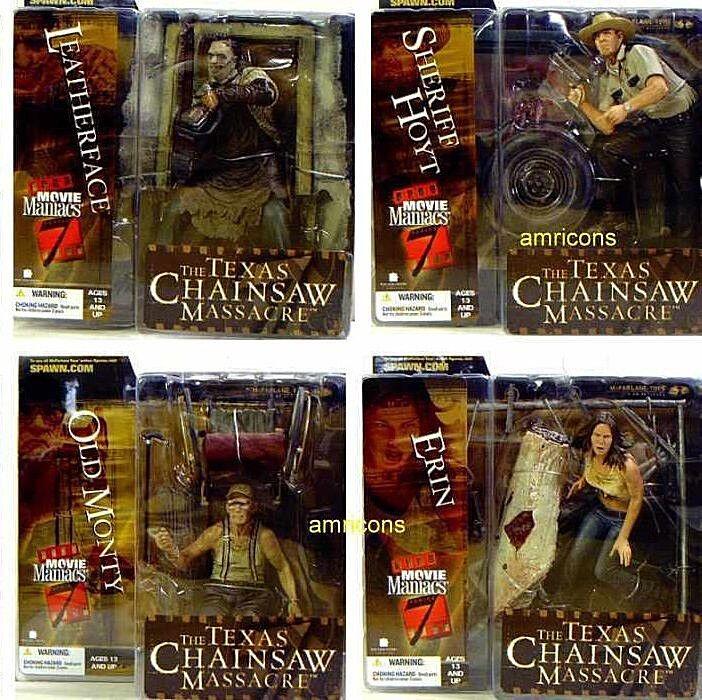 Movie Maniacs 4 Texas Chainsaw Massacre Set Figuras de acción McFarlane Serie 7
