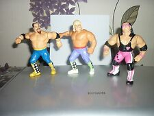 HASBRO WWF WWE THE HART FOUNDATION OWEN HART BRET THE HITMAN HART ANVIL