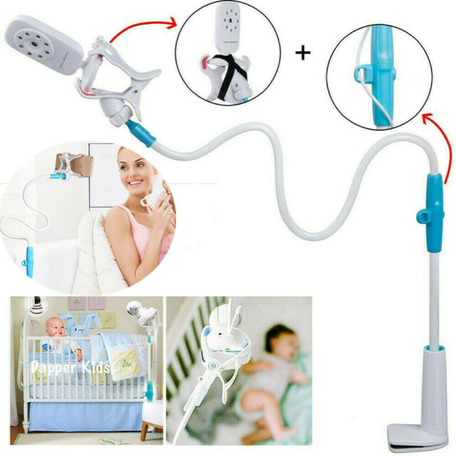 Universal Flexible Clamp BLACK Stand Portable Camera Shelf Baby Camera Mount
