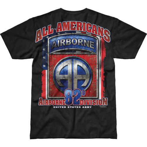 7.62 DESIGN US ARMY 82ND AIRBORNE ALL AMERICANS BATTLESPACE T-SHIRT MILITARY TOP