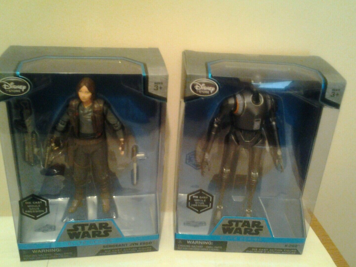 Star wars elite series die cast sergeant jyn erso and k-2SO figures