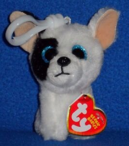 TY MARCEL the DOG KEY CLIP BEANIE BABY - MINT with MINT TAG ... 1b6242dcf588