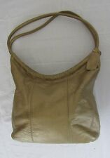 CEE KLEIN Gold Leather Hobo Shoulder Purse Bag Round Handles (123)
