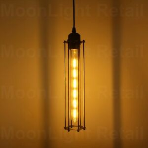 Modern-Vintage-Industrial-Retro-Loft-Long-Cage-Corridor-Ceiling-Pendant-Light