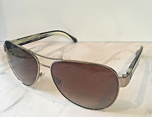 5c65baa9bd15 Image is loading Used-Authentic-Tory-Burch-Polarized-Sunglasses-Gold-Brown-
