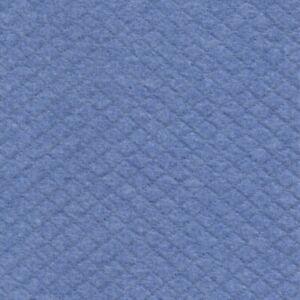 Trapuntato Morbido Cotone Jersey Felpa - Blu Melange 19 - Tessuto Sartoria Fas