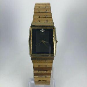 Vintage-Seiko-Mens-7431-5280-Gold-Tone-Stainless-Steel-Back-Quartz-Wristwatch