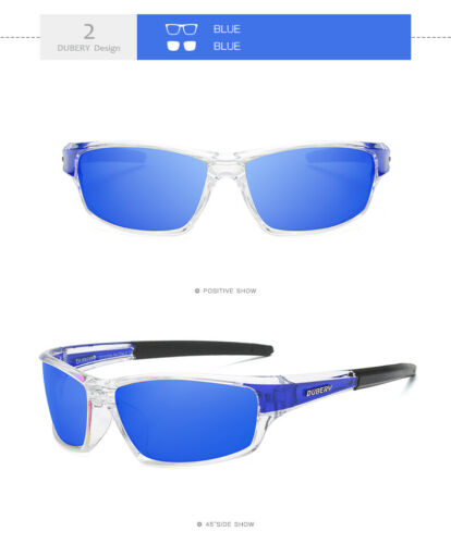 DUBERY Mens Womens Vintage Polarized Sunglasses Driving Goggles Eyewear Cycling