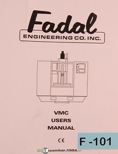 Details about Fadal VMC Series, Machining Center, Operation Programming  User Manual 1994