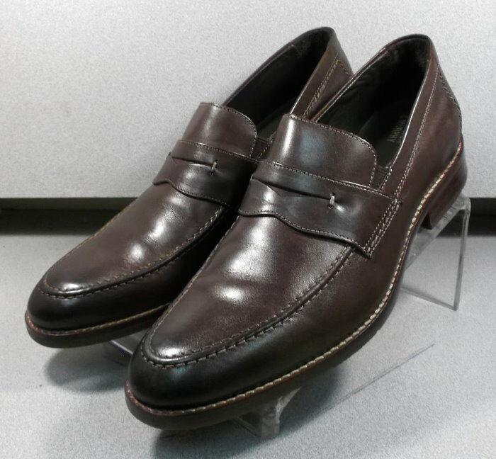 591372 MS50 Chaussures Hommes Taille 9 m en Cuir Marron À Enfiler Johnston & Murphy