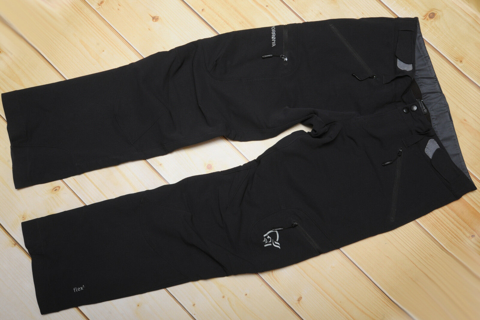 NORRONA SVALBARD FLEX1 CAVIAR - SOFTSHELL windproof damen OUTDOOR PANTS - L