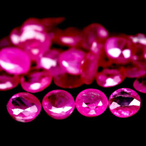 4-16-Carats-35pcs-3MM-Natural-Reddish-Pink-RUBY-for-Jewelry-Setting