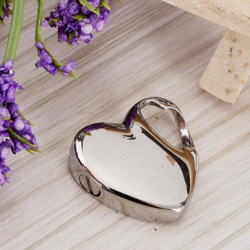 Pendentif urne funéraire cœur lisse cendres souvenir en acier inoxydable