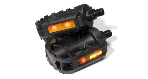 GlowSpek Safety LED Flashing Pedals Deluxe FOR 1//2/'/' AXLE
