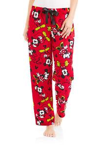 Mickey Minnie Mouse Fleece Lounge Sleep Pants Adult L-XL-2X Pajama Bottom Disney