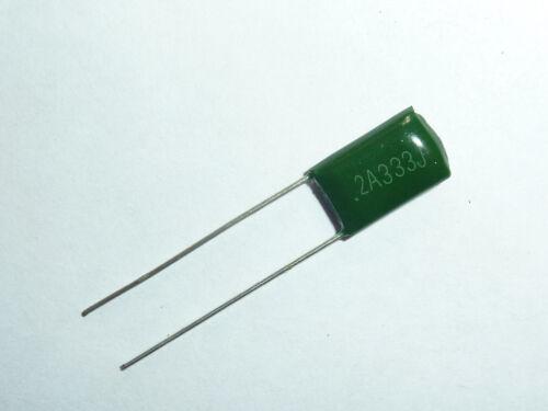 20PCS 100V 0.033uF 33nF 33000pF 2A333J ±5/% Mylar Film Capacitors Radial