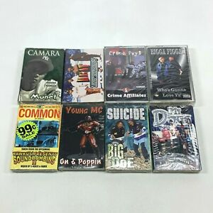 [NEW] Lot of 8 Cassette Tapes 90s Rap Hip Hop - Common Young MC Bigga Figgaz