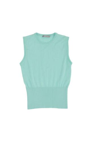 Nuovo L Turchese Seta Verde Rosa Lela Cashmere Xl M Maglia Maglione Menta rqgrwp