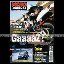 MOTO JOURNAL N°1310 YAMAHA YZF 1000 R1 HONDA XLR 125 R TRIUMPH TROPHY 1200 1998