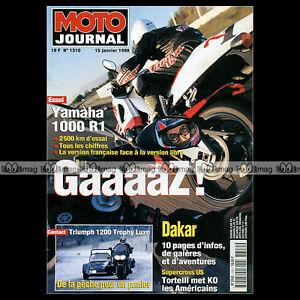 MOTO-JOURNAL-N-1310-YAMAHA-YZF-1000-R1-HONDA-XLR-125-R-TRIUMPH-TROPHY-1200-1998