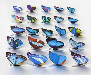 100PCS Fit for Party Wedding Favor Decoration Xmas Colorful Artificial Butterfly