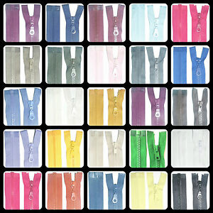 ZIPS-30-034-76CM-CHUNKY-TEETH-PLASTIC-OPEN-END-ASSORTED-COLOURS-FREE-P-amp-P