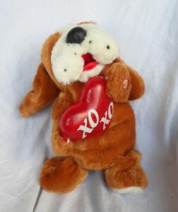 Dan-Dee-Sound-Light-Brown-Puppy-Dog-12-034-Sound-Plush-Toy-Stuffed-Animal