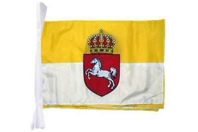 Fahnenkette Flaggenkette Girlande Deutschland Berlin Fahnen Flaggen 15x22cm