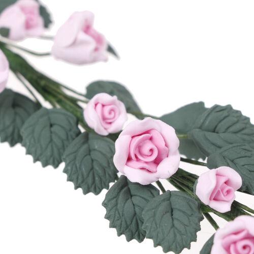 1Pc 1:12 Casa de Muñecas en Miniatura Rosa Flor Vid HAZLO TÚ MISMO Casa de Muñecas las decoraciones accessoricp