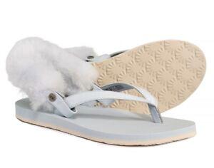 936f7b23ec0 Details about New UGG Women's Laalaa Thong Sandals 1090387 Sky Blue Size 7
