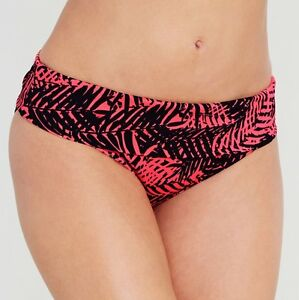 Details about LADIES PINK BLACK FOLD WAIST BIKINI BRIEF Figleaves Congo NEW
